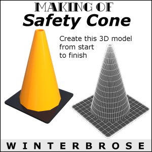 making of: safety cone 3d model for ds4
