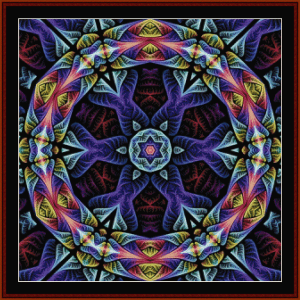Fractal 665 cross stitch pattern by Cross Stitch Collectibles | Crafting | Cross-Stitch | Wall Hangings