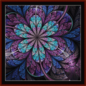 Fractal 666 cross stitch pattern by Cross Stitch Collectibles | Crafting | Cross-Stitch | Wall Hangings