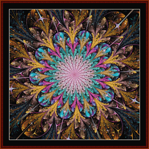 Fractal 667 cross stitch pattern by Cross Stitch Collectibles | Crafting | Cross-Stitch | Wall Hangings