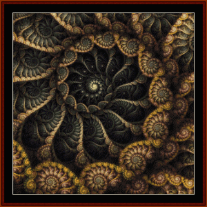 Fractal 669 cross stitch pattern by Cross Stitch Collectibles | Crafting | Cross-Stitch | Wall Hangings