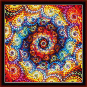 Fractal 668 cross stitch pattern by Cross Stitch Collectibles | Crafting | Cross-Stitch | Wall Hangings