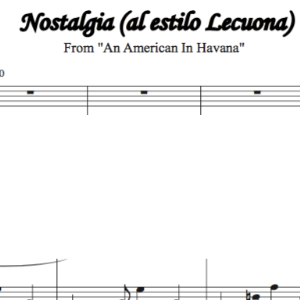 nostalgia sheet music (from an american in havana)
