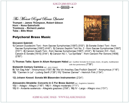 First Additional product image for - The Mount Royal Brass Quintet - 2-CD Set
