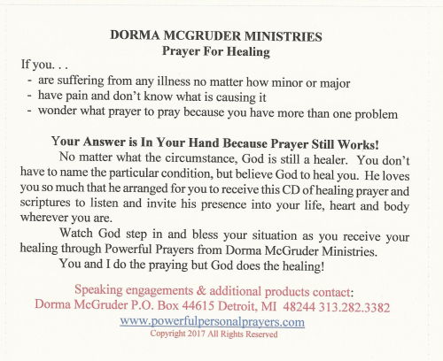 First Additional product image for - Healing Prayer