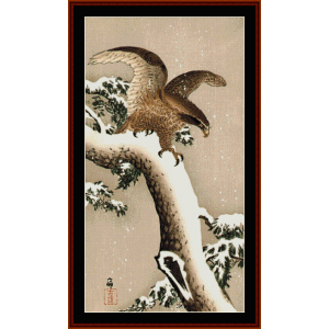 Eagle - Asian Art cross stitch pattern by Cross Stitch Collectibles | Crafting | Cross-Stitch | Wall Hangings