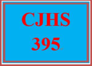 cjhs 395 entire course