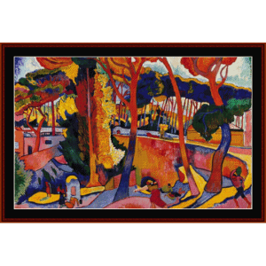 The Turning Road, L'Estaque - Derain cross stitch pattern by Cross Stitch Collectibles | Crafting | Cross-Stitch | Wall Hangings