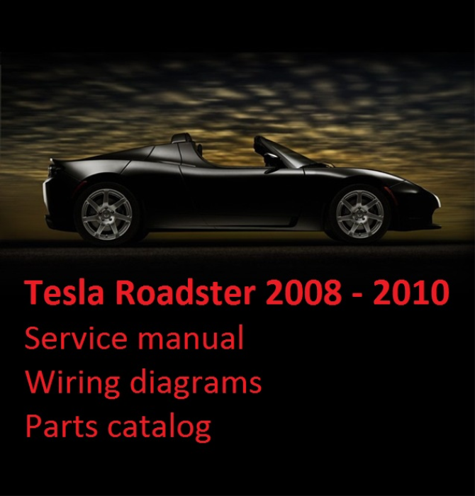 first additional product image for - tesla roadster 2008-2010 service manual  wiring diagrams parts