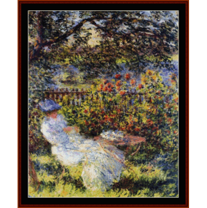 alice in the garden - monet cross stitch pattern by cross stitch collectibles