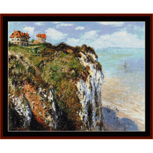 Cliff at Dieppe - Monet cross stitch pattern by Cross Stitch Collectibles | Crafting | Cross-Stitch | Wall Hangings