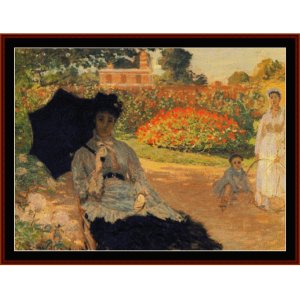 camille in the garden - monet cross stitch pattern by cross stitch collectibles