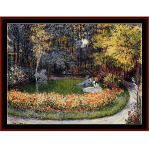 In the Garden - Monet cross stitch pattern by Cross Stitch Collectibles | Crafting | Cross-Stitch | Wall Hangings