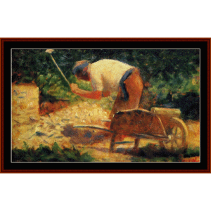 Stone Breaker, 1883 - Seurat cross stitch pattern by Cross Stitch Collectibles | Crafting | Cross-Stitch | Wall Hangings
