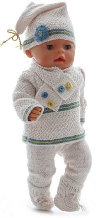 First Additional product image for - DollKnittingPatterns 0189D CINDY - Trui, Broek, Truitje met korte mouw, Muts, schoentjes en sjaal-(Nederlands)