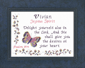 Name Blessings -  Vivian | Crafting | Cross-Stitch | Religious