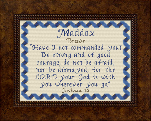 name blessings -  maddox 2