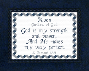 Name Blessings -  Koen | Crafting | Cross-Stitch | Other