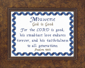 Name Blessings -  Mbaweme | Crafting | Cross-Stitch | Religious