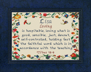 Name Blessings -  Lisa 3 | Crafting | Cross-Stitch | Religious
