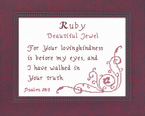 Name Blessings -  Ruby | Crafting | Cross-Stitch | Other