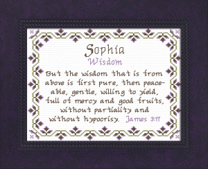 Name Blessings -  Sophia 3 | Crafting | Cross-Stitch | Religious
