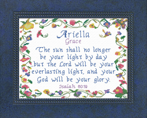 Name Blessings -  Ariella | Crafting | Cross-Stitch | Religious