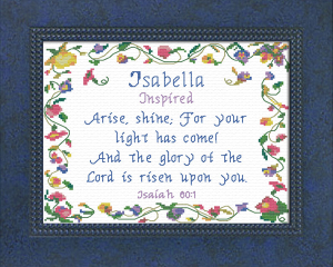 Name Blessings -  Isabella 3 | Crafting | Cross-Stitch | Other