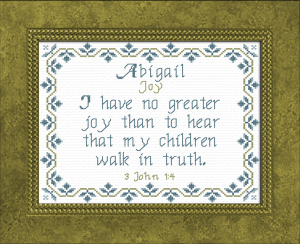 Name Blessings - Abigail 7 | Crafting | Cross-Stitch | Other