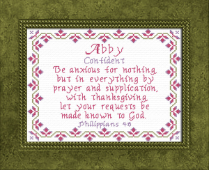 Name Blessings -  Abby | Crafting | Cross-Stitch | Religious