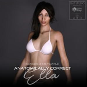 Anatomically Correct: Ella for Genesis 3 and Genesis 8 Female | Software | Design