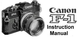 canon f-1 instruction manual