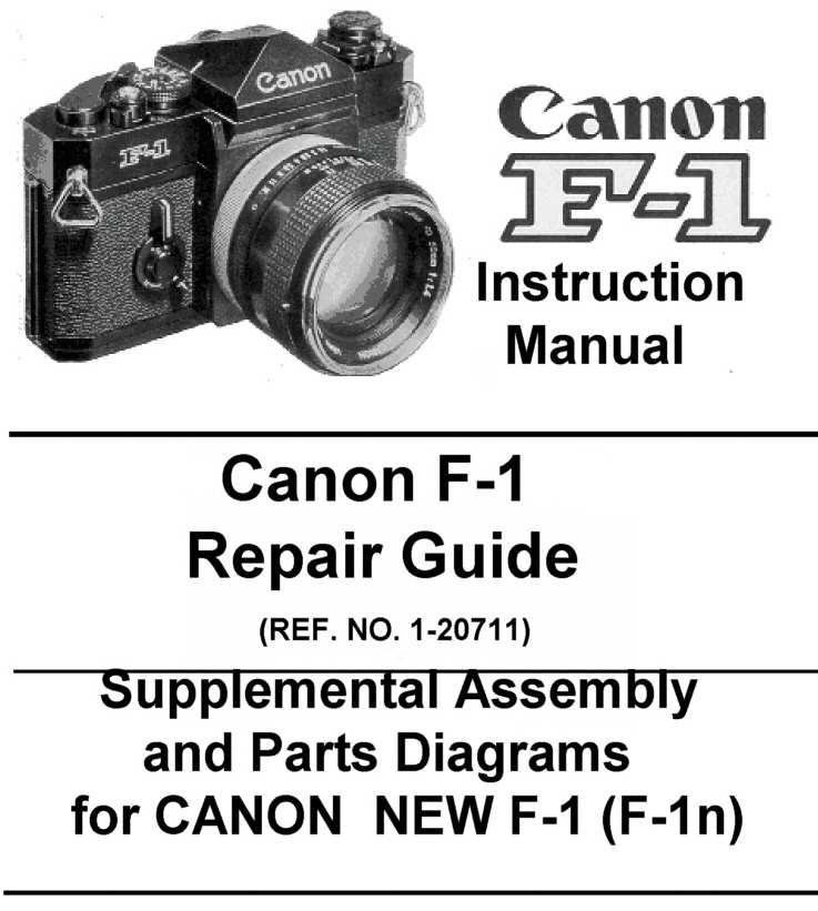 Canon F 1 Repair Guide Instruction Manual Other Files
