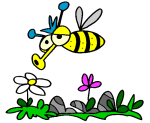 Colored Bee Illustration | Photos and Images | Animals