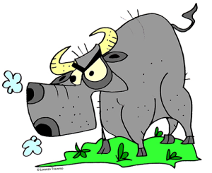Colored Bull Illustration | Photos and Images | Animals