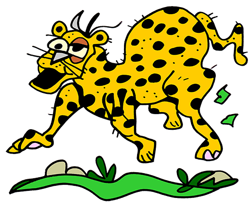 First Additional product image for - Colored Cheetah Illustration