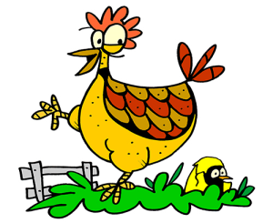 Colored Chicken Illustration   Photos and Images   Animals