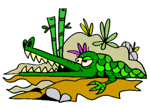 Colored Crocodile Illustration   Photos and Images   Animals