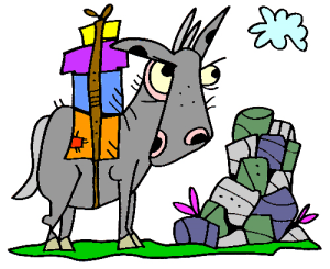 Colored Donkey Illustration | Photos and Images | Animals