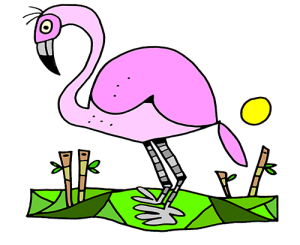 Colored Flamingo Illustration | Photos and Images | Animals