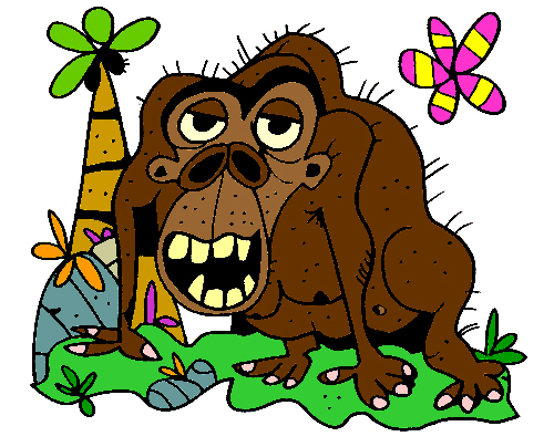 Second Additional product image for - Colored Gorilla Illustration