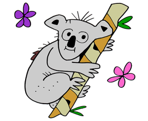 Colored Koala Illustration | Photos and Images | Animals