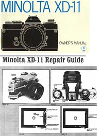 minolta xd11 xd7 xd 35mm camera repair guide - instruction manual -use