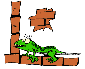 Colored Lizard Illustration | Photos and Images | Animals