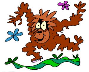 Colored Orangutan Illustration | Photos and Images | Animals