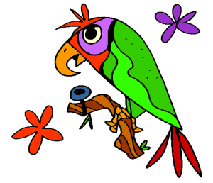 Colored Parrot Illustration | Photos and Images | Animals