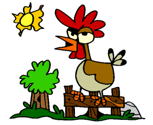 Colored Rooster Illustration | Photos and Images | Animals
