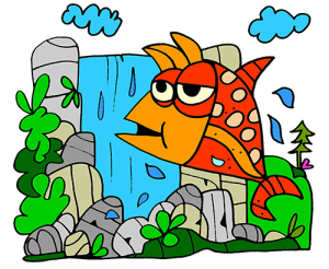 colored salmon illustration