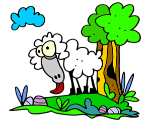 Colored Sheep Illustration | Photos and Images | Animals