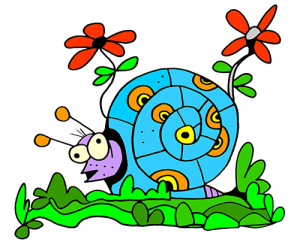 colored snail illustration